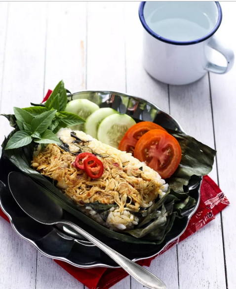 Resep Nasi Bakar Ayam Suwir